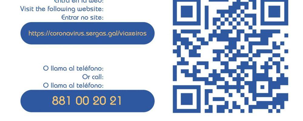 Los viajeros que lleguen a Galicia desde territorios con alta prevalencia del coronavirus deberán comunicarlo al SERGAS